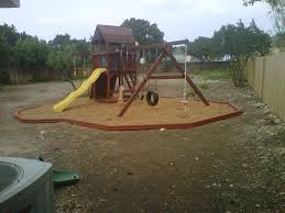 lone star assembly playground installation playsets mulch pits