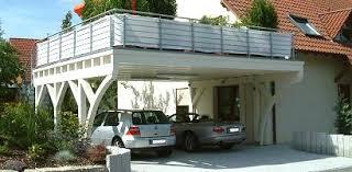carport mit balkon balkon carport das begehbare carport autotalli