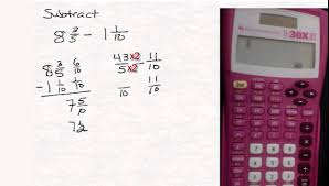 Subtracting Mixed Fractions Worksheets Add Or Subtract Mixed Numbers With A Calculator Youtube