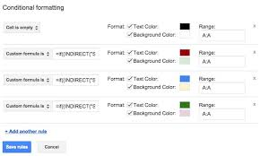 google apps applying conditional formatting across sheets the
