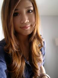 fashion simple light brown hair color for asian girls best light
