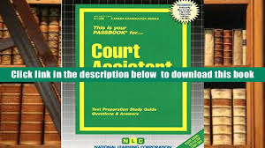 pdf court assistant test preparation study guide questions