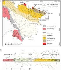 Espana Map A Structural Sketch Map Of The Cap De Creus Peninsula