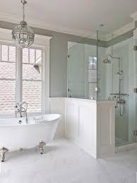 Shower In Bathroom Creative Décor 39 Bathrooms With Half Walls Digsdigs