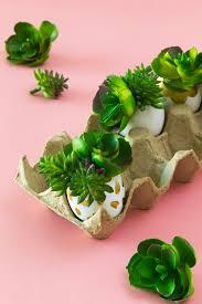 diy faux succulent easter egg planters sarah hearts