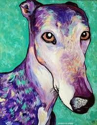 a new painting of our italian greyhounds by polish artist