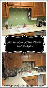 easy kitchen update picgit com vinyl tile backsplash quick and easy kitchen upgrade
