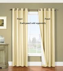 Yellow Grommet Curtain Panels by Nantucket Black Out Grommet Curtain Panels Thermalogic
