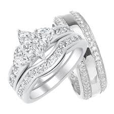 wedding rings sets his and hers his her wedding rings set trio