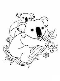 Coloriage Koala et son petit dessin gratuit à imprimer