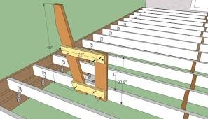 Simple Wooden Bench Design Plans by Outdoor Deck Plans Deck Bench Plans Free Howtospecialist How
