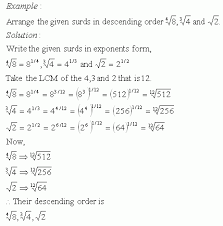 radicals descending order high mathematics kwiznet