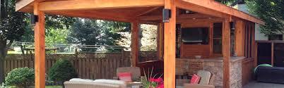 custom outdoor structures pool cabanas toronto cedar wood