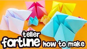 how to make a paper fortune teller fold origami chatterbox diy