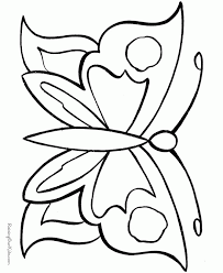 outline butterfly kids coloring