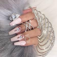 imagenes de uñas acrilicas con pedreria pin de laetitia mc mitchell en nails pinterest diseños de uñas
