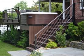 Platform Stairs Design 63 Hot Tub Deck Ideas Secrets Of Pro Installers U0026 Designers