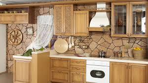 Stone Backsplashes For Kitchens Kitchen Britsih Country Kitchen Design With Walnut Cabinets Also