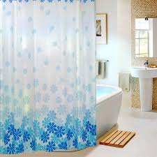 fresh and funny blue floral shower curtains