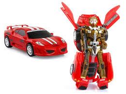 ferrari transformer auto robot 2w1 transformer ferrari f430 czerwony 7009915059