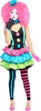 circus clown girls halloween fancy dress carnival teens childrens