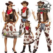 halloween costume for dad mom cosplay western cowboy costume