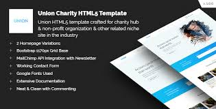 union charity responsive html5 template by codetides themeforest