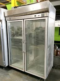 hobart qf2 5 stainless steel 2 glass door commercial refrigerator