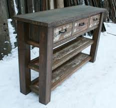 Wood Entry Table Outstanding Best 25 Rustic Console Tables Ideas On Pinterest Diy