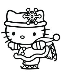 Free Merry Coloring Pages Printable Sheets Hello Kitty Merry Coloring Pages Printable