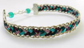 wire woven bracelet images Instructions for a kumihimo half round bracelet made of wire jpg