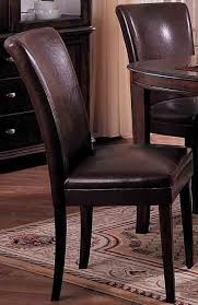 Parson Chairs Chocolate Bicast Leather Parson Chairs Set Of 2 Free Shipping