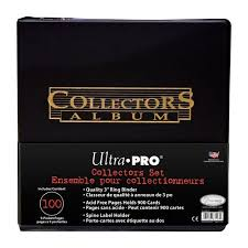9 pocket pages ultra pro collector s album with 100 9 pocket pages walmart