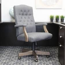 Swivel Desk Chair Without Wheels by Furniture Tufted Office Chair For Elegant Office Design