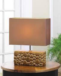 river rock table lamp wholesale at koehler home decor river rock table lamp river rock table lamp