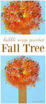 bubble wrap painted fall tree kid craft the resourceful mama