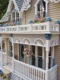 Little Darlings Dollhouses Customized Newport by Late Victorian English Manor Dollhouse 1 12 Miniature From