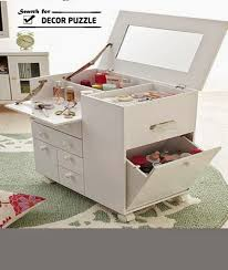 Folding Vanity Table Luxury Modern Day White Dressing Table With Mirror And Lighting