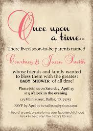 storybook baby shower invitation 45 baby shower diy