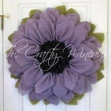burlap sunflower wreath large burlap sunflower wreath 30 light violet diy craft