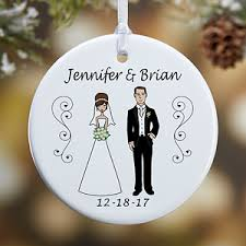 personalized ornaments and groom characters