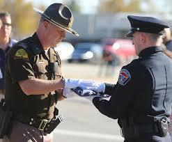 Fallen Officer Flag U S Honor Flag Arrives For Fallen West Valley Police Officer U0027s