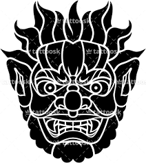 fury japanese demon face tattoo https tattoosk com