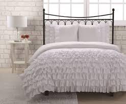 amazon com full miley mini ruffle comforter set white home u0026 kitchen