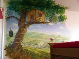 tree house theme playroom kid s treehouse muralpainted murals tree house theme playroom kid s treehouse muralpainted murals and mural painting by billy