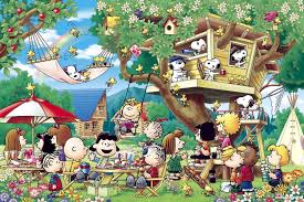 1000 jigsaw puzzle peanuts tree house 50x75cm