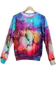 galaxy sweater dizzying galaxy sweatshirt oasap com