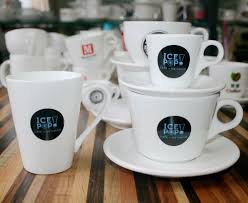 popular white design large cappuccino cups and saucers and small