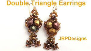 beginner earrings triangle earrings beginner beadingtutorial
