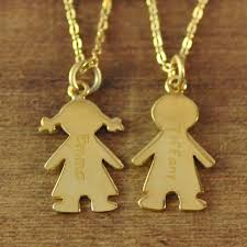 necklace baby images Gold color mother 39 s necklace with engraved children charms baby jpg